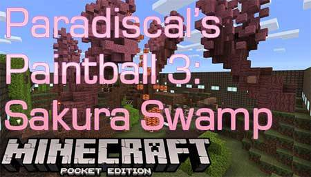 Карта Paradiscal's Paintball 3: Sakura Swamp для Minecraft PE