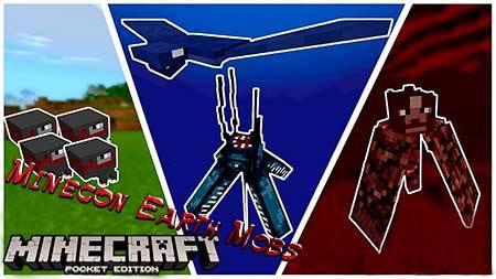 Мод Minecon Earth Mobs для Minecraft PE