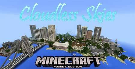 Текстуры Cloudless Skies для Minecraft PE