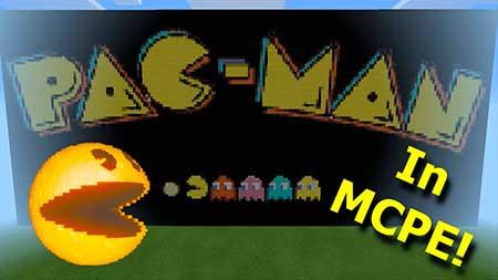Карта Pacman The Minecraft Version для Minecraft PE