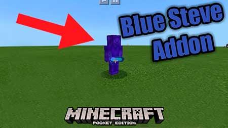 Мод Blue Steve для Minecraft PE