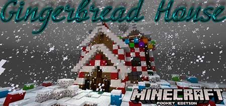 Карта Gingerbread House для Minecraft PE