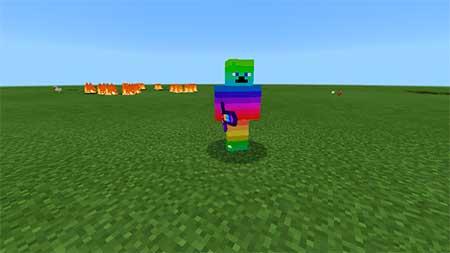 Rainbow Steve mcpe 1