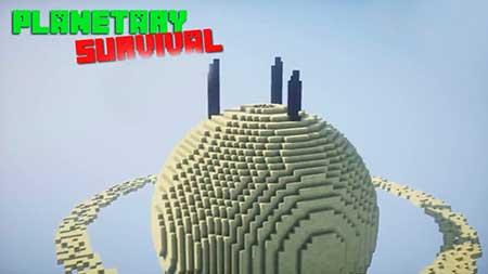 Карта Planetary Survival для Minecraft PE