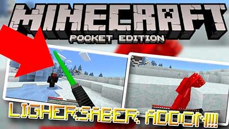 Мод 3D Lightsaber для Minecraft PE