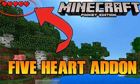 Мод Five Heart Survival для Minecraft PE