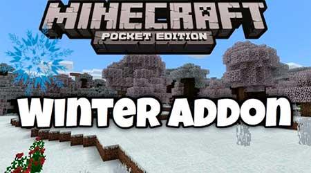 Мод Winter Season для Minecraft PE