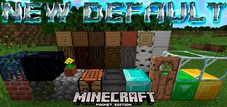 Текстуры New Default для Minecraft PE