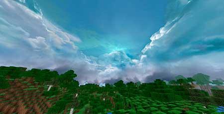 Cloudy Skybox mcpe 3