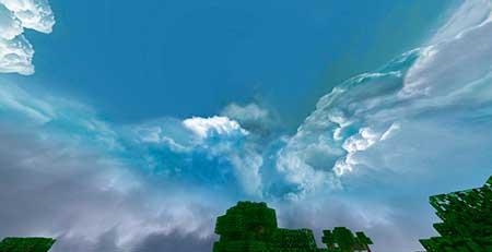 Cloudy Skybox mcpe 2