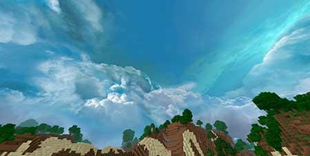Cloudy Skybox mcpe 1
