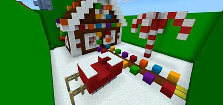Find the Button Christmas mcpe 3