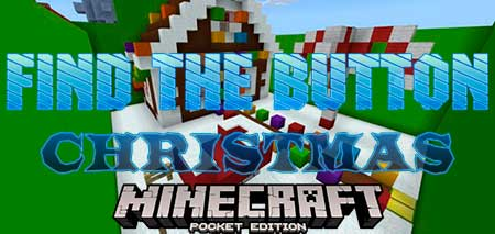 Карта Find the Button Christmas для Minecraft PE