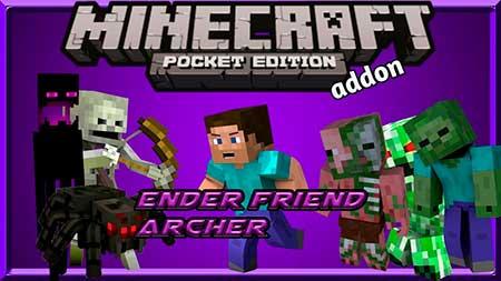 Мод Ender Archer Friend для Minecraft PE