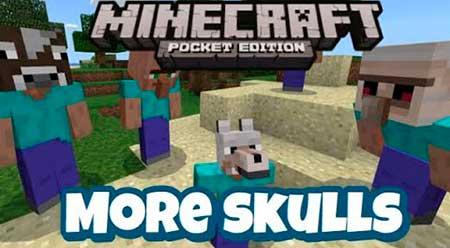 Текстуры More Skulls для Minecraft PE