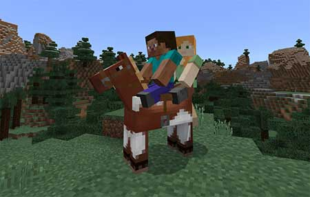 2 Player Horse Riding mcpe 1