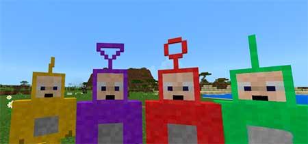 Мод Slendytubbies для Minecraft PE