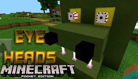 Текстуры Eye Heads для Minecraft PE