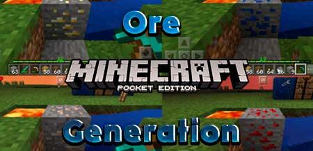 Мод Ore Generation для Minecraft PE