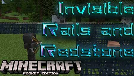 Текстуры Invisible Rails and Redstone для Minecraft PE