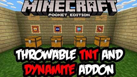 Мод Throwing TNT & Dynamite для Minecraft PE