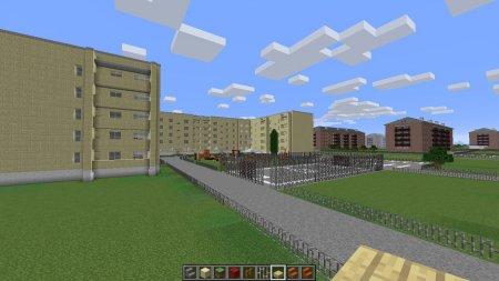 Карта Uchaly для Minecraft PE (Городская карта)