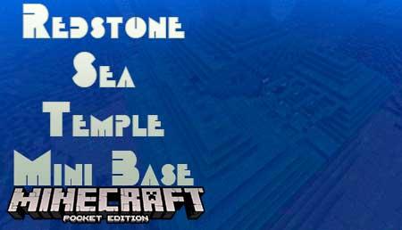 Карта Redstone Sea Temple Mini Base для Minecraft PE