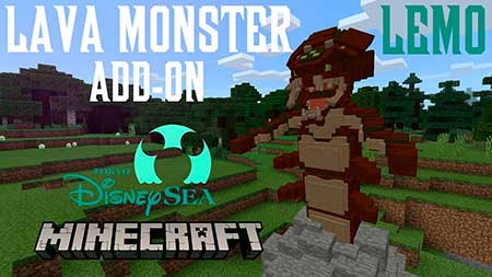 Мод Lava Monster Boss для Minecraft PE