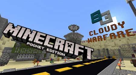 Карта SG Cloudy Warfare для Minecraft PE