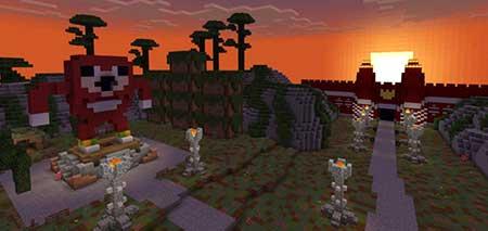 Карта Uganda Knux Quest для Minecraft PE