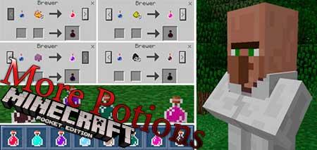 Мод More Potions для Minecraft PE