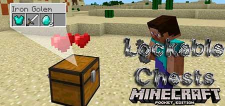 Мод Lockable Chests для Minecraft PE