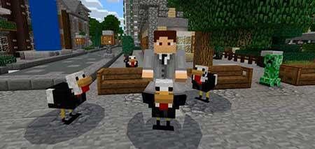 Chicken Bodyguard mcpe 2