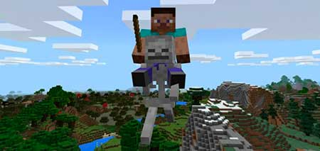 Skeleton Flying Machine mcpe 1