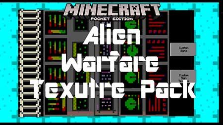 Текстуры Alien Warfare для Minecraft PE