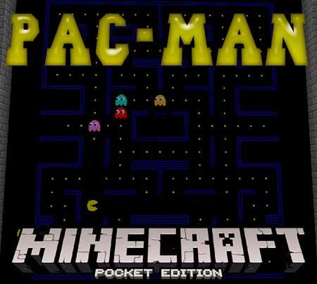 Карта Pac-Man для Minecraft PE
