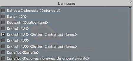 Better Enchantment Names mcpe 1