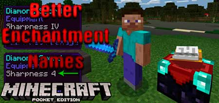 Текстуры Better Enchantment Names для Minecraft PE