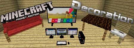 Текстуры Decoration New для Minecraft PE