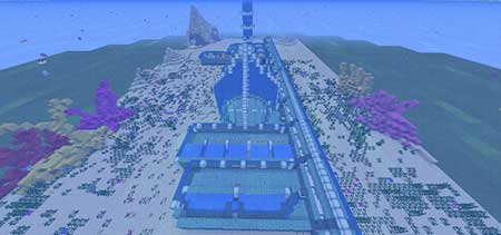 Aquatic Update Review Map mcpe 1