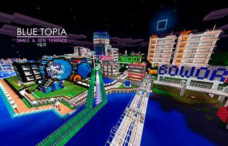 Blue Topia mcpe 5