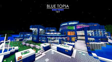Blue Topia mcpe 4