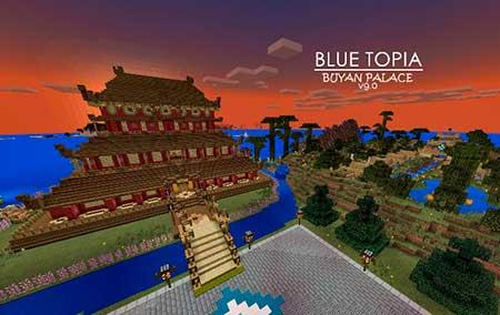 Blue Topia mcpe 9