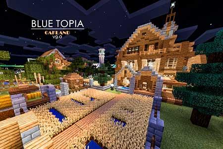 Blue Topia mcpe 3