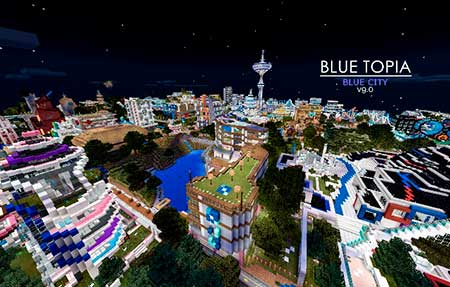 Blue Topia mcpe 2