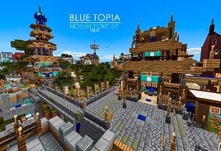 Blue Topia mcpe 7