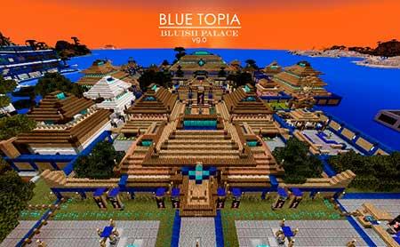 Blue Topia mcpe 8
