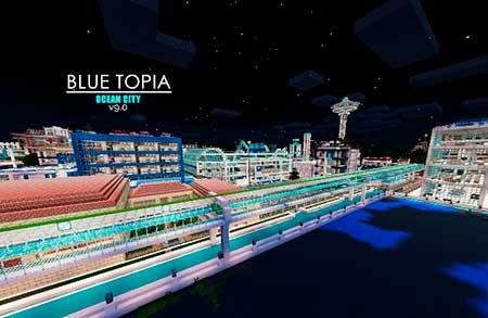 Blue Topia mcpe 1