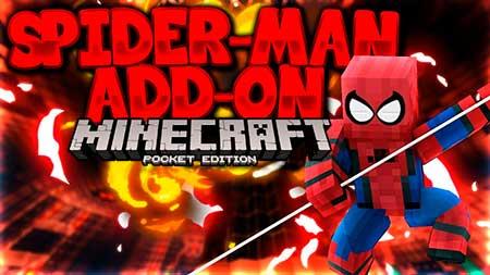 Мод Spider-Man для Minecraft PE