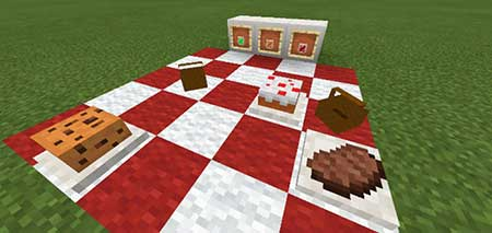 Мод Placeable Food для Minecraft PE